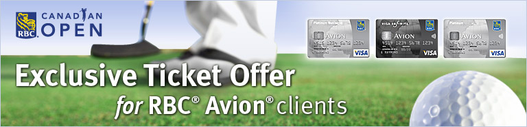 CANADIAN OPEN Exclusive Ticket Offer for RBC® Avion® clients