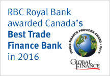 RBC Royal Bank awarded Canada's Best Trade Finance Bank in 2016