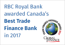 RBC Royal Bank awarded Canada's Best Trade Finance Bank in 2017