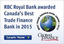 RBC Royal Bank awarded Canada's Best Trade Finance Bank in 2015