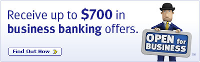 Receive up to $750 in business banking offers. Find out How
