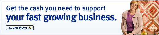 Get the cash you need to support your fast growing business.