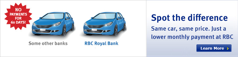 Same car, same price. Just a lower monthly payment at RBC!