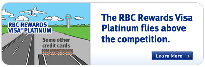 The RBC Rewards Visa Platinum flies above the competition.