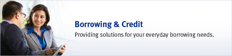 Borrowing & Credit - Providing solutions for your everyday borrowing needs