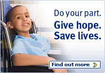 Do your part. Give Hope. Save Lives. Find out more