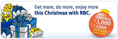 Get more, do more, enjoy more this Christmas with RBC.