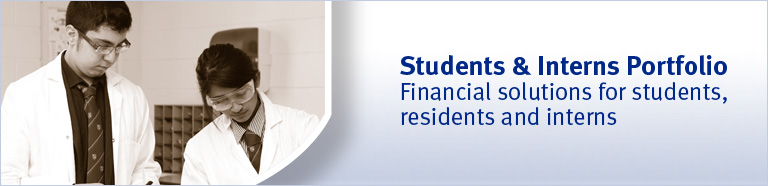 Students & Interns Portfolio - Financial solutions for students, residents and interns.