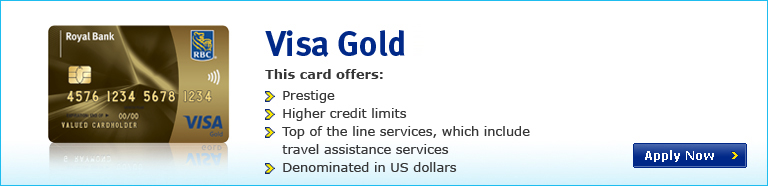 Visa Gold this card offers: prestige, higher credit limits, top of the line services, which include travel assistance services, denominated in us dollars.