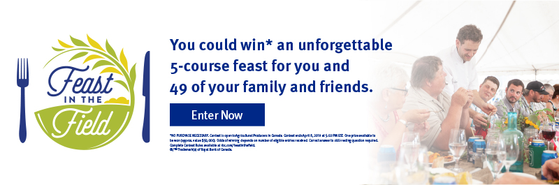 You could win an unforgettable 5-course feast for you and 49 of your family and friends.