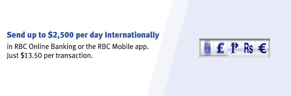 send money abroad and save rbc royal bank rh rbcroyalbank com wiring money real estate wiring money between banks