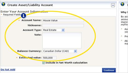 Link an Account in myFinanceTracker™ - RBC Royal Bank