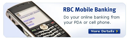 RBC Mobile Banking - Do your online banking from your PDA or cell phone.