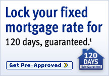 Lock your fixed mortgage rate for 120 days, guaranteed1