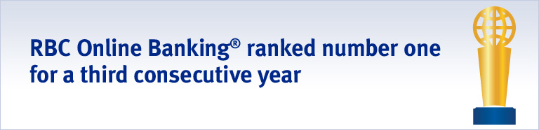 RBC Online Banking® ranked number one for a third consecutive year