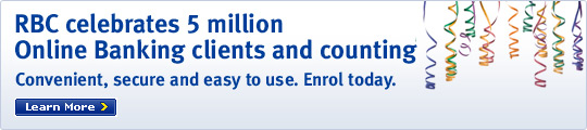 RBC celebrates 5 million Online Banking clients and counting. Convenient, secure and easy to use. Enrol today. Learn More