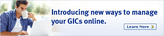 Introducing new ways to manage your GICs online.
