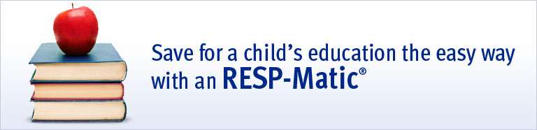 Save for a child's education the easy way with an RESP-Matic®