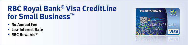 Apply now for a business line of credit up to 50000 rbc royal bank rbc royal bank visa creditline for small business no annual fee low reheart Gallery