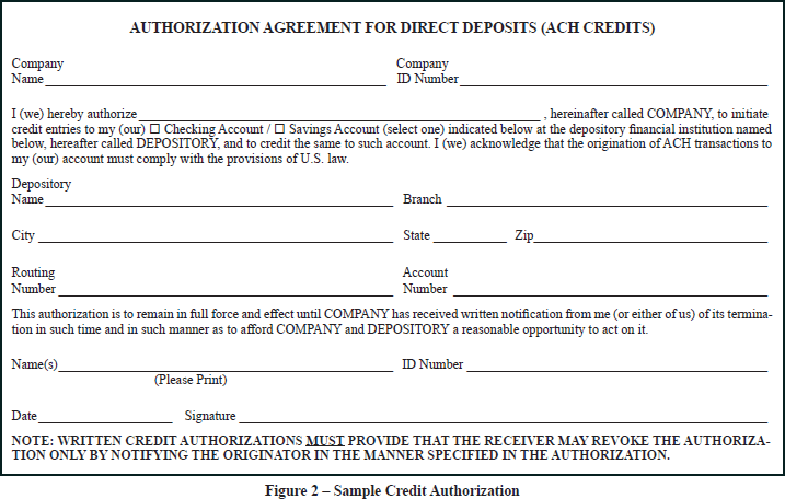 RBC ACH Help Centre Payments Payment Records – Direct Deposit Authorization Form Examples