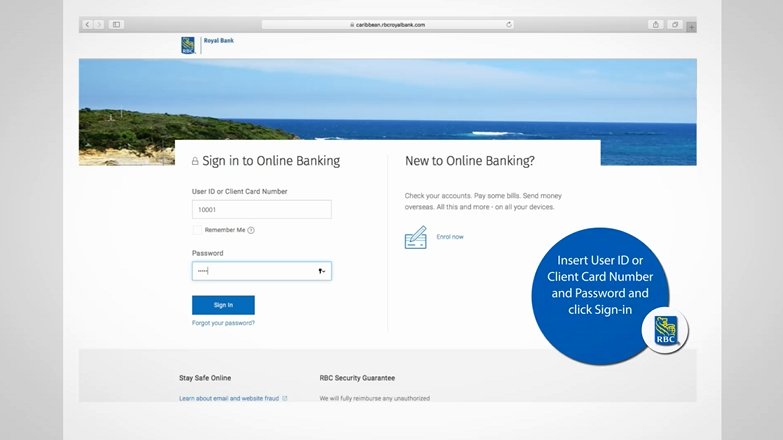 Rbc online banking sign in caribbean