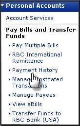 Select The Payment History Tab