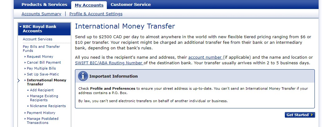 way to go card bank transfer